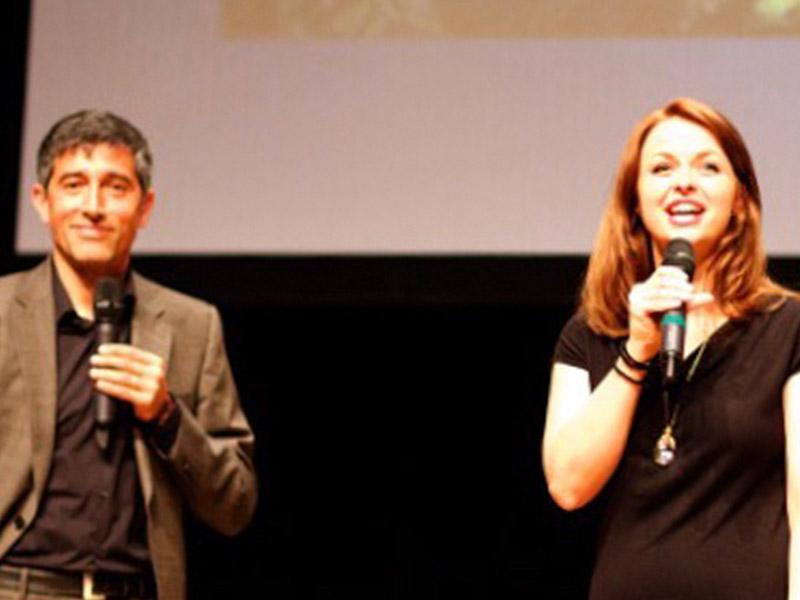 Event Moderation von Johanna Höpker mit Ranga Yogeshwar